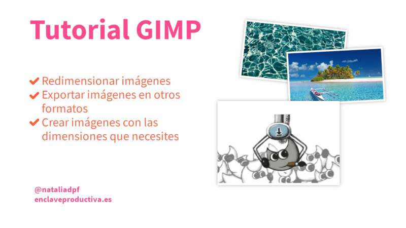 creatividad con el titulo del post: tutorial GIMP