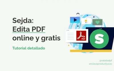 SEJDA PDF: Tutorial para editar PDF online y gratis