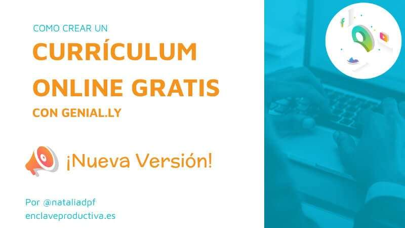 curriculum online genially decorativa